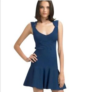 Vena Cava Blue fit and flare Cocktail dress
